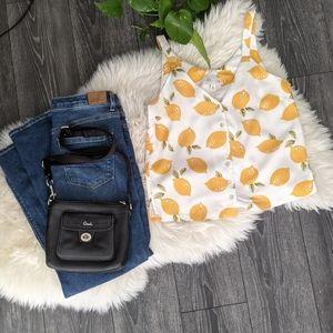 JUN & IVY - Lemon Button Tank